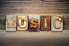 Music Concept Letterpress Theme Stock Illustration