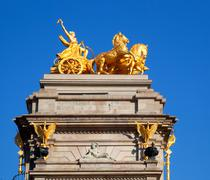Stock Photo of Barcelona ciudadela park Aurora golden quadriga