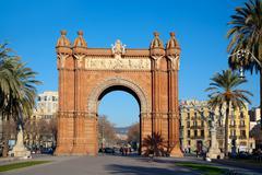 Arco del Triunfo Barcelona Triumph Arch Stock Photos
