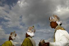Stock Photo of Religious feast of Meskal in Ethiopia Africa