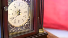 Cool antique clocks hands rotating with time Stock Footage