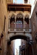 Barcelona Palau generalitat in gothic Barrio - stock photo