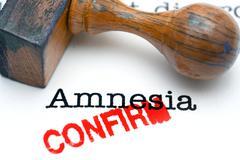 Amnesia confirm - stock photo