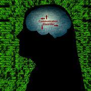 Communication disorder concept Stock Photos