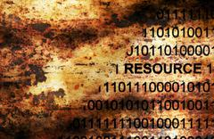 Stock Photo of Resources data on grunge background