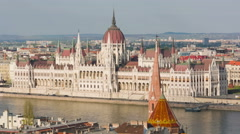 Hungarian Parliament building Stock Footage