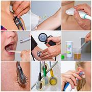 Health collage Stock Photos
