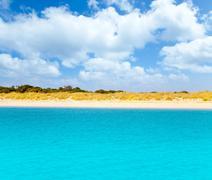 Espalmador in Balearic formentera island - stock photo