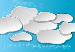 Clouds and sun Stock Illustration