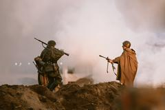 Stock Photo of Reconstruction of Battle during events dedicated to 70th anniver