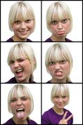 Teenager making faces Stock Photos