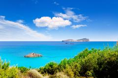 Aiguas Blanques Agua blanca Ibiza beach - stock photo