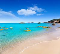 Aiguas Blanques Agua blanca Ibiza beach - stock photo