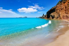 Stock Photo of Aiguas Blanques Agua blanca Ibiza beach