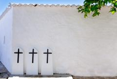 Ibiza Santa Agnes de Corona Ines white church Stock Photos