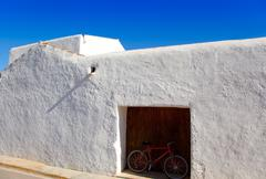 Ibiza Santa Agnes whitewashed houses Stock Photos