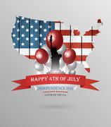 Fourth Of July Background - stock illustration