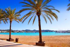 Stock Photo of Ibiza Sant antoni de Portmany Abad beach