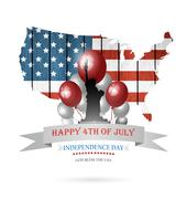 Fourth Of July Background Stock Illustration