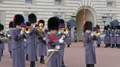 The palace band playing some music going outside Stock Footage