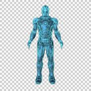Ironman 1 Alpha Channel Stock Footage