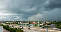 Timelapse traffic Hwy 59 Stafford texas Stock Footage