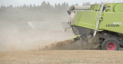 A wheat harverster machine tool in the farm - stock footage