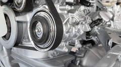 Part of car engine - stock footage