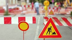 Street is under construction. Stock Footage