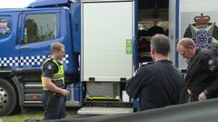 Police Search & Rescue prepare Stock Footage