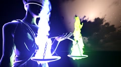 Lady Justice statue concept Stock Footage