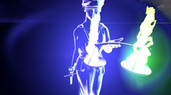 Lady Justice Sculpture of woman - stock footage