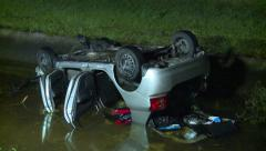 Car Upside Down in Water Stock Footage