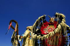 Feast of the Amerindian nations of pow wow Stock Photos