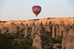 Cappadocia, Turkey.The greatest tourist attraction of Cappadocia , the flight - stock photo
