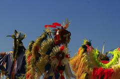 Feast of the Amerindian nations of pow wow - stock photo