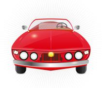 Red car convertible Stock Illustration