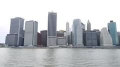 New York - Manhattan downtown skyline Stock Footage