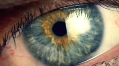 Stock Video Footage of Extreme close up human eye iris