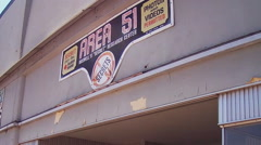 Area 51 Sign- Fun Alien Exhibits For Photography And Video- Roswell NM Stock Footage
