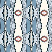 Stock Illustration of Abstract seamless ornament pattern.kaleidoscope effect.