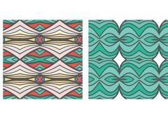 Stock Illustration of Abstract seamless ornament pattern.kaleidoscope effect.