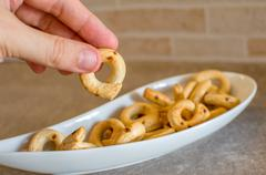 Taralli pugliesi (Italian cuisine) - stock photo