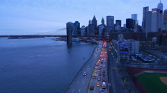 New York - Manhattan downtown street traffic in the evening Stock Footage