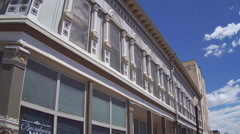 Decorative Detail Shot- Historic Early 20th Century Architecture Stock Footage