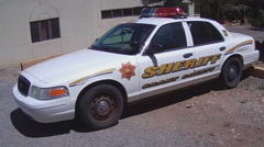 Grant County New Mexico Sheriff Squad Car- Silver City NM Stock Footage