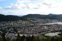 The City of Bergen, Norway - stock photo
