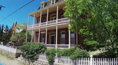 The Conway House Historic Apartments- Silver City New Mexico Stock Footage