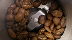 Coffee grinder close-up Stock Footage