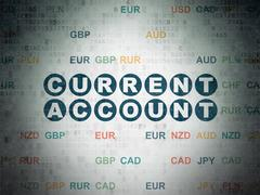 Money concept: Current Account on Digital Paper background - stock illustration
